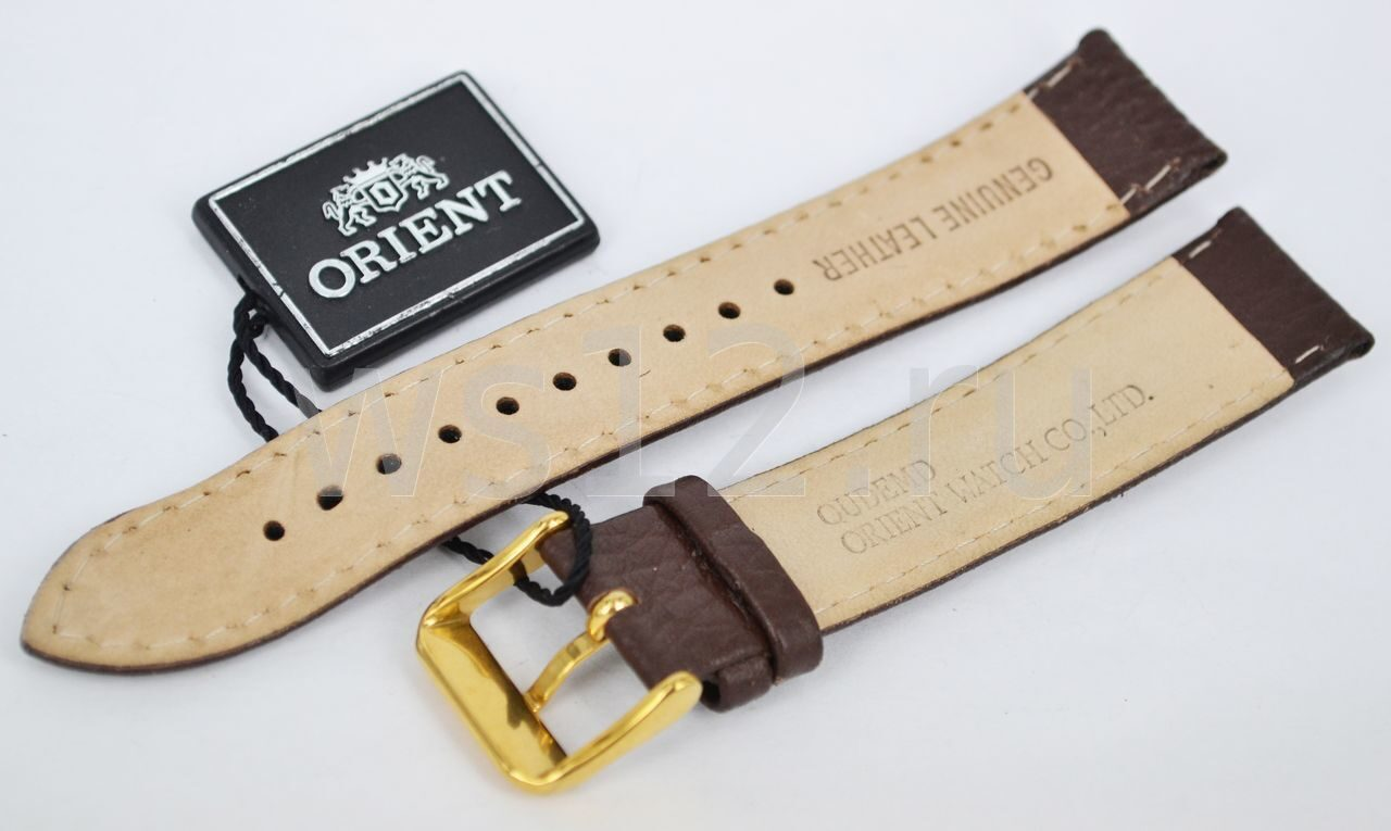 Мужские наручные часы Orient с кожаным ремешком